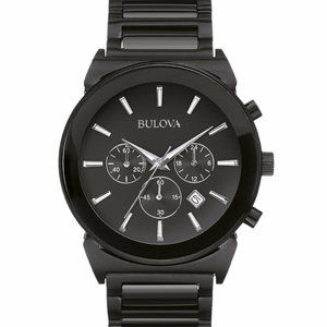 Bulova Black Chronograph Classic Watch